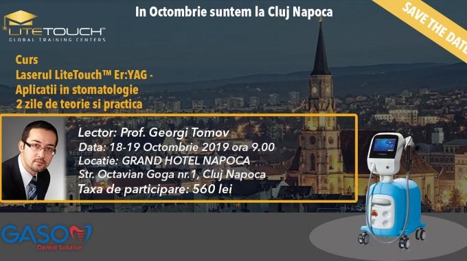 CURS – LASERUL ™ ER:YAG APLICATII IN STOMATOLOGIE – TEORIE SI PRACTICA 18-19 Octombrie 2019 Cluj-Napoca