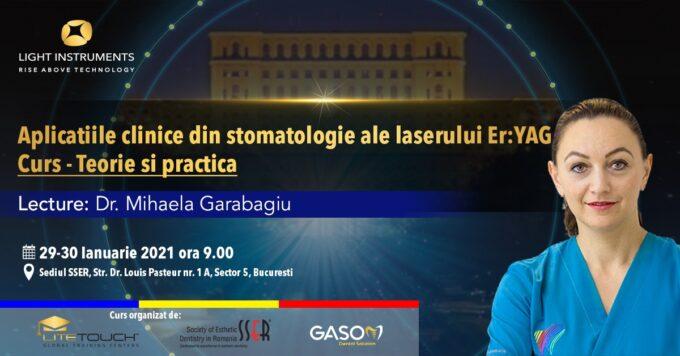 Curs – Aplicațiile Laserului Er:YAG în Stomatologie – Teorie și Practică   /  29-30 Ianuarie 2021, București